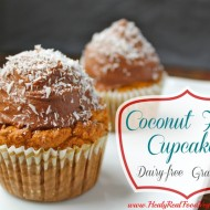 Coconut Flour Cupcakes with Chocolate Frosting (grain-free, dairy-free)