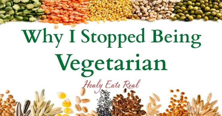A graphic with why I stopped being vegetarian written in the middle