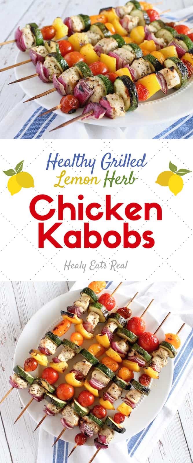 Lemon Herb Chicken Kabobs (Oven or Grill)