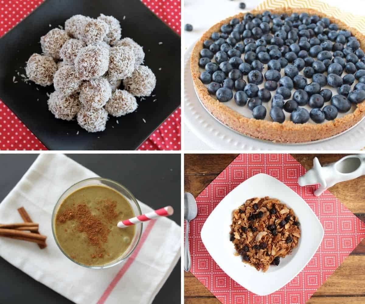 Collage of various aip desserts