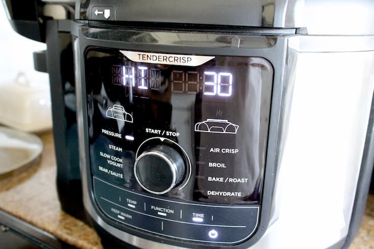 Instant pot face with 30 minutes set